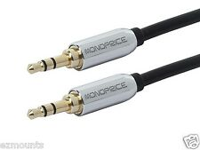 Samsung Galaxy Note 2- Auxillary Cable 3.5mm Stereo Male to Male Gold Plated-BLK