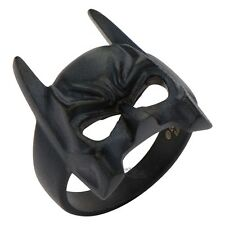 Batman Mask Symbol Ring Dark Knight Steel Black DC Comics Licensed Size 9-14