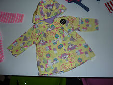 DISNEY Minnie Mouse and Daisy Duck Yellow Fleece Lined Hooded Jacket NWT