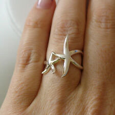 Starfish Ring - 925 Sterling Silver Nautical Beach Ring Multiple Sizes *NEW*