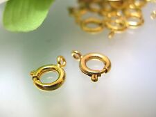 Top quality Usa made Gold plated 7.25 mm spring ring clasps 10 - 100 Pieces