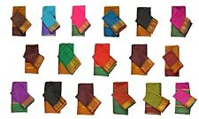 INDIAN ART SILK SARI SAREE WOVEN GOLDEN IN 17 COLORS WITH BLOUSE PIECE DECOR