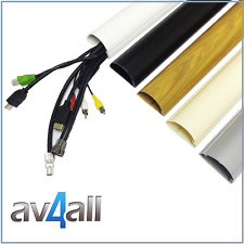 D-Line Long 1.5 metre lengths 60x30 Cable Cover Trunking to hide TV Wires dline