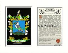 SHEEHAN Family Coat of Arms Crest + History - Available Mounted or Framed