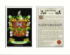 BRENNAN Family Coat of Arms Crest + History - Available Mounted or Framed