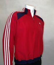NEW ADIDAS MEN`S WARM UP JACKET IN RED COLOUR
