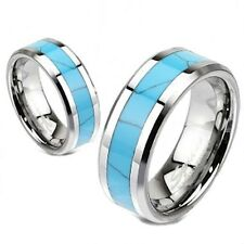 Tungsten Carbide Turquoise Inlay Comfort Fit Band