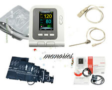 Home Care !!FDA CE Digital Blood Pressure Monitor NIBP SpO2 Monitor + Software