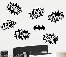 Batman Sound Effects Wall stickers Boom Kaboom Pow
