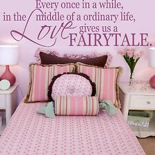 Fairytale Love Life Quote Family Wall Sticker Art Modern Home Graphic Design Q56