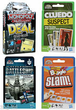 Hasbro Card Games 4 To Choose From Monopoly Cluedo Battleship & Boggle New Boxed