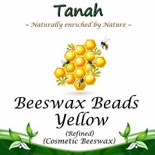 BEESWAX BEADS ~ YELLOW  ~ Natural Cosmetic Wax ~ Refined Beeswax ~ 100% Pure ~