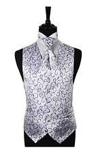 Mens & Boys Purple Scorll Wedding Formal Waistcoat