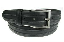 Black Leather Mens Belt -Great on Jeans or Chinos Small Med Large XL 2XL 3XL 4XL