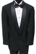 Black 2 Button Tuxedo Package Wedding Prom Formal Evening Free Shipping! 40R