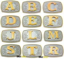 Initial Letters Western Style Cowboy Rodeo Gold Small Belt Buckles