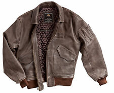 Alpha Industries Cwu 45/P Leather Flight Jacket MLC21012P1