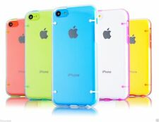 Clear Glowing Rugged Rubber Matte PC Hard Case Cover For iPhone 5C + Free Stylus