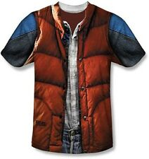 Authentic Back To The Future Mcfly Vest Sublimation Dye Movie Mens T Shirt S-3Xl
