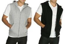 MEN'S SLEEVELESS, FULL ZIP, JERSEY LINED, LIGHTWEIGHT, HOODIE, S M L XL 2XL