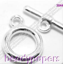 8 15 40 Silver Plated Toggle Jewellery Clasp Plain 12mm Nickel Lead Free 3044