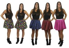 "15"" Full Circle Skater Skirt Ladies Valentines Fancy Dress Roller Girl UK"