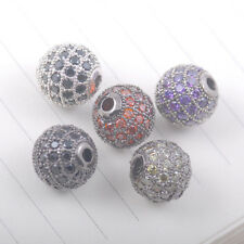 AAA crystal rhinestone cz disco Round Ball bead Spacer charm jewelry findings