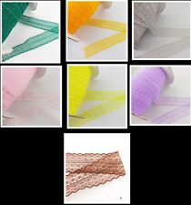 10 yards- 100 yards  and embroidery lace ribbon and color of choice 7 color