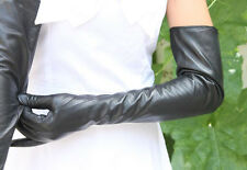 Women 60cm Long Genuine Leather Gloves Lambskin Winter Opera Evening Gloves