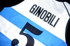MANU GINOBILI #5 TEAM ARGENTINA JERSEY NEW WHITE - ALL SIZES