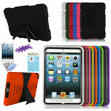 Rubber Shockproof Protective Kickstand Hard Shell Skin Case For Apple iPad Mini