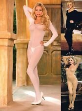 PLUS SIZE LINGERIE SHEER LONG SLEEVE BODYSTOCKING O/S QUEEN  O/S REGULAR S M L