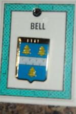 BELL to BROOKS Family PIN LAPEL Coat of Arms -  Heraldic Crest