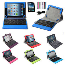 Stand Leather Case Cover with Wireless Bluetooth Keyboard Stylus For iPad 2 3 4
