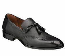 MEZLAN Mens Tassel Slip On Dress Shoes Loafers Calfskin Molini 5444 Black