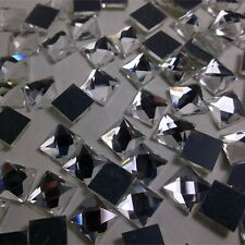 Crystal Square Special Shape Flatback Rhinestones Various Size Mercury Plated