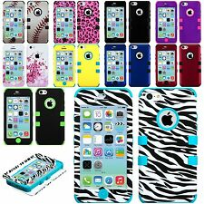 iPhone 5C - Hard & Soft Silicone Hybrid Rugged Armor High Impact Skin Case Cover
