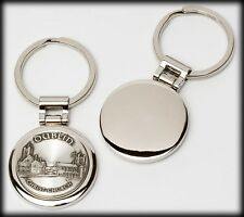 G to Z Quality PEWTER Stainless Steel KEYRING - Your Family Coat of Arms Crest