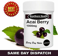 Acai Berry Diet Pills 2000mg Daily Strength Extreme Fat Burners, Hawthorn Health