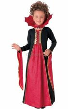 SALE! Kids Gothic Vampiress Girls Halloween Party Fancy Dress Costume Outfit