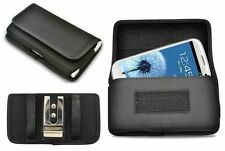 For Samsung Case Horizontal Heavy Duty Belt Clip Pouch Cover Medium Cell Phones