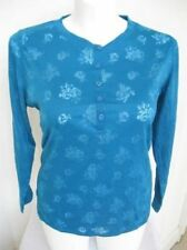 NWOT Lane Bryant Cacique Plus Size Long Sleeve Sleep Top in Blue