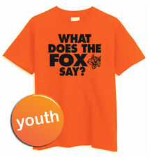 """Youth """"What does the fox say?"""" YLVIS NORWEGIAN DANCE MUSIC Video *Orange T-Shirt"""
