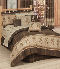 Browning® Buckmark Logo Brown Tan Bedding Comforter Set & Sheets 5 Sizes