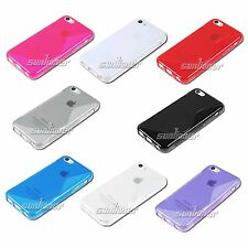 Gel  TPU Case Skin Cover For iPhone 5C +Screen Protector Guard