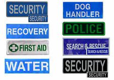 Velcro Patches, Security, First Aid, Dog Handler, Search and Rescue + more