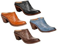 Spirit by Lucchese S6010 Sandy Womens Cowboy Western Mules Available in 4 colors