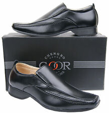 Mens New Black Slip On Leather Lined Formal Fashion shoes Free UK Shipping