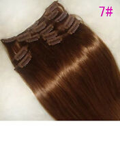 CLIP ON DELUXE THICK HAIR EXTENSIONS ALL LENGTHS #7 300 GRAMS! LOVE BODY BLING