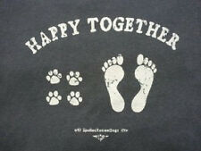 Happy Together Adult Shirt T Shirt Dog Pet Animal Paw prints MADE IN USA